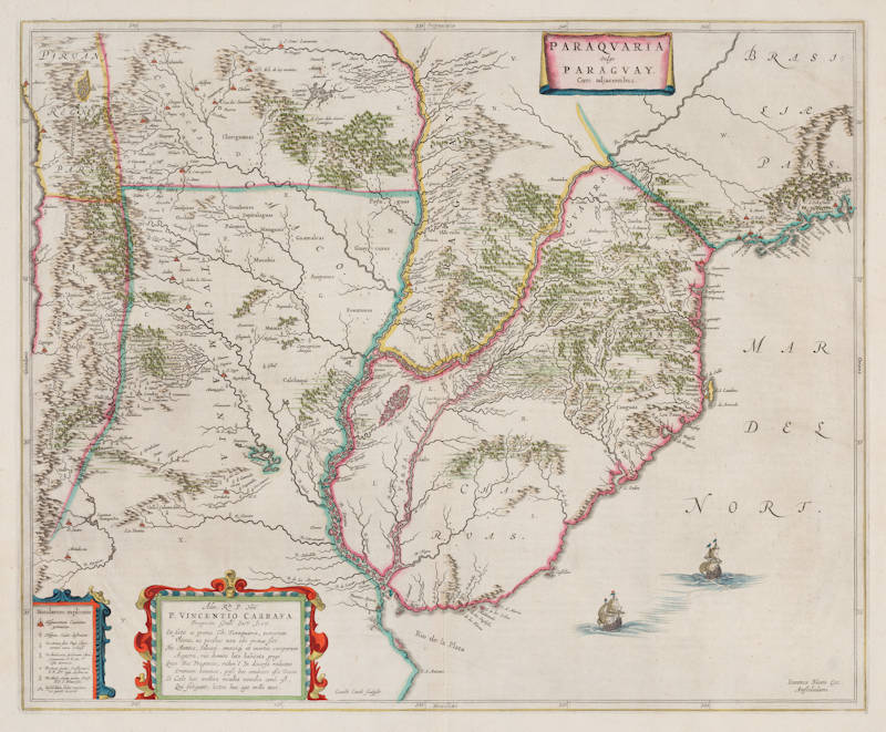 Antique map of Paraguay by Blaeu