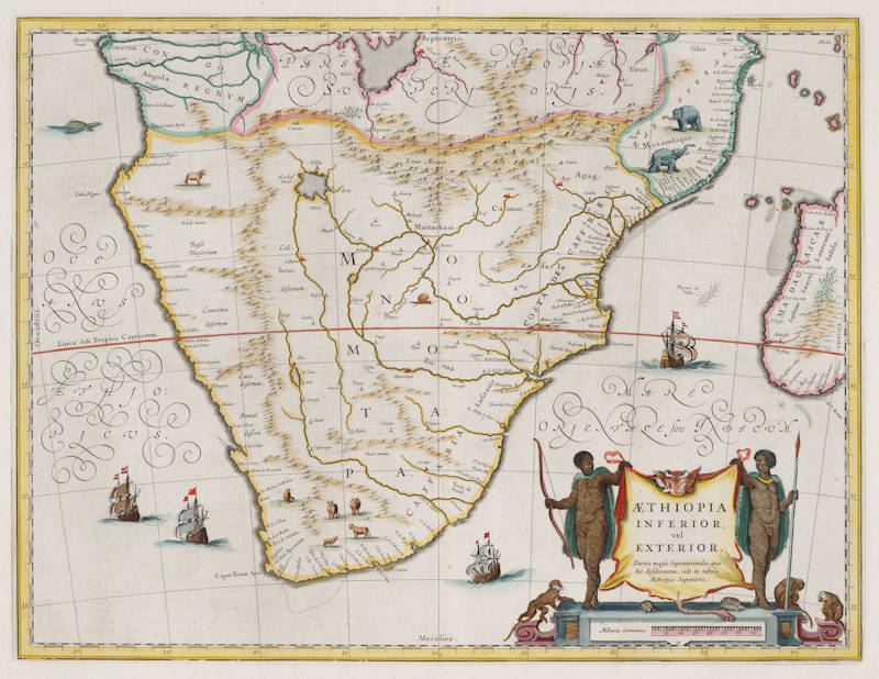 Antique map of South Africa by Blaeu