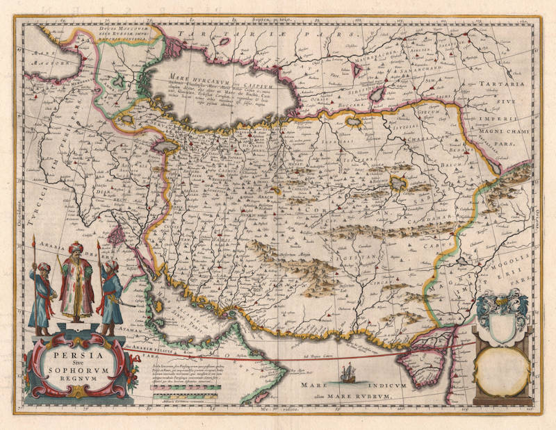 Antique map of Persia by Blaeu