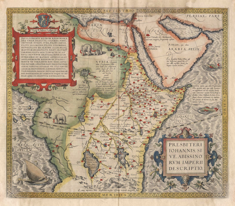 Antique map of Central Africa by Ortelius