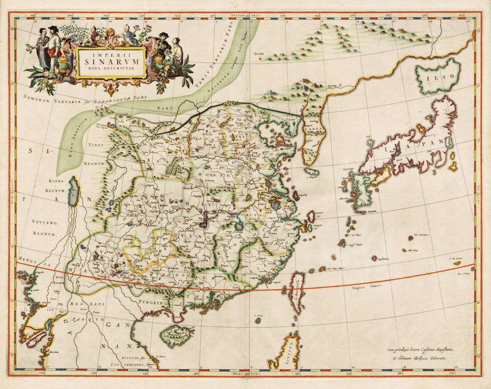 Antique map of China by Blaeu/Martini