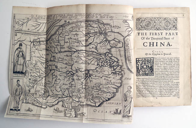 Antique map of China by Alvarez de Semedo