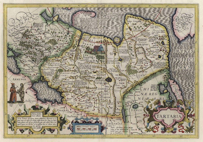 Antique map of Tartaria by Hondius
