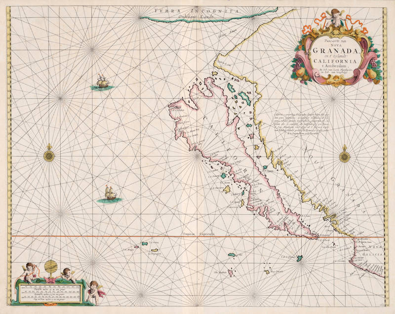 Antique map of California by van Loon