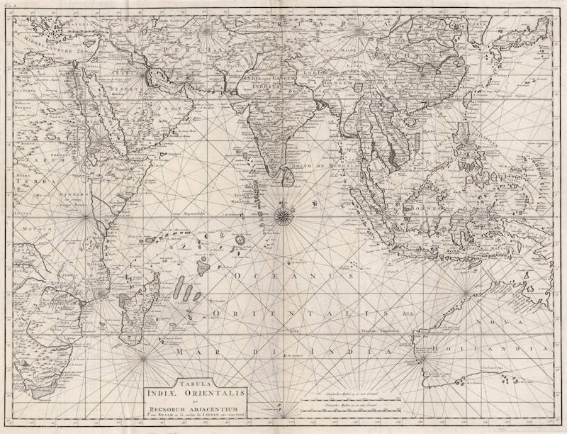 Antique map of East Indies, Australia by Valentijn