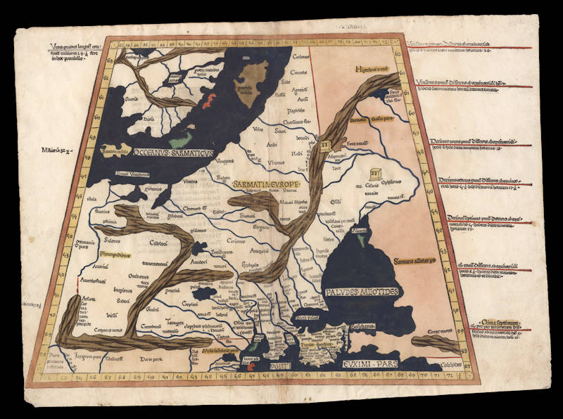 Antique map of Russia by Ulm Ptolemy