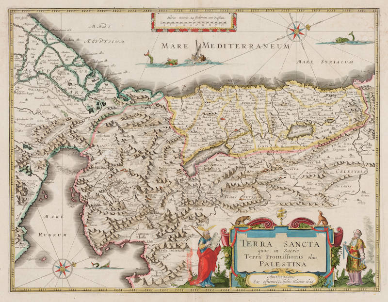 Antique map of Holy Land by Blaeu