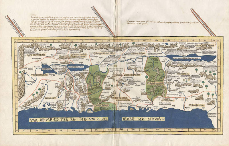 Featured Antique map of Holy Land by Ulm Ptolemy