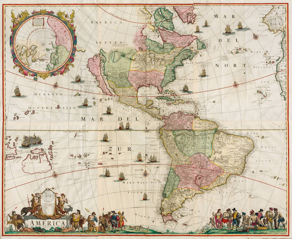Featured Antique map of America by Frederick de Wit